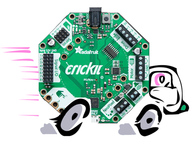 About Continuous Servo Motors | Make it Move with Crickit