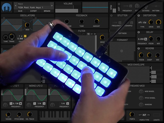 Play Music with Helm Synthesizer | Trellis M4 Expressive MIDI