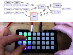 Trellis M4 Synth Design Tool
