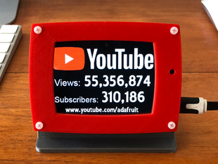 PyPortal YouTube Views and Subscribers Display