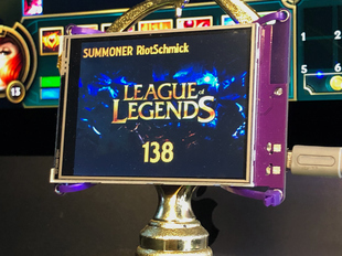 League of Legends Level Trophy for PyPortal