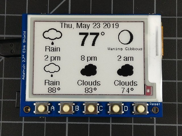 Overview | eInk / ePaper Weather Station | Adafruit Learning