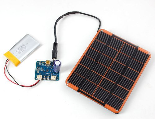 USB, DC & Solar Lipoly Charger