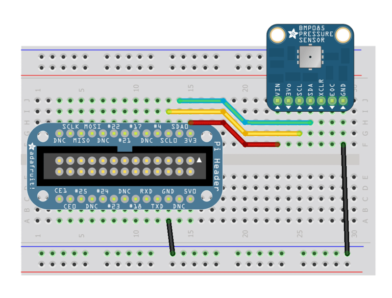 Configuring the Pi for I2C | Using the BMP085/180 with Raspberry Pi