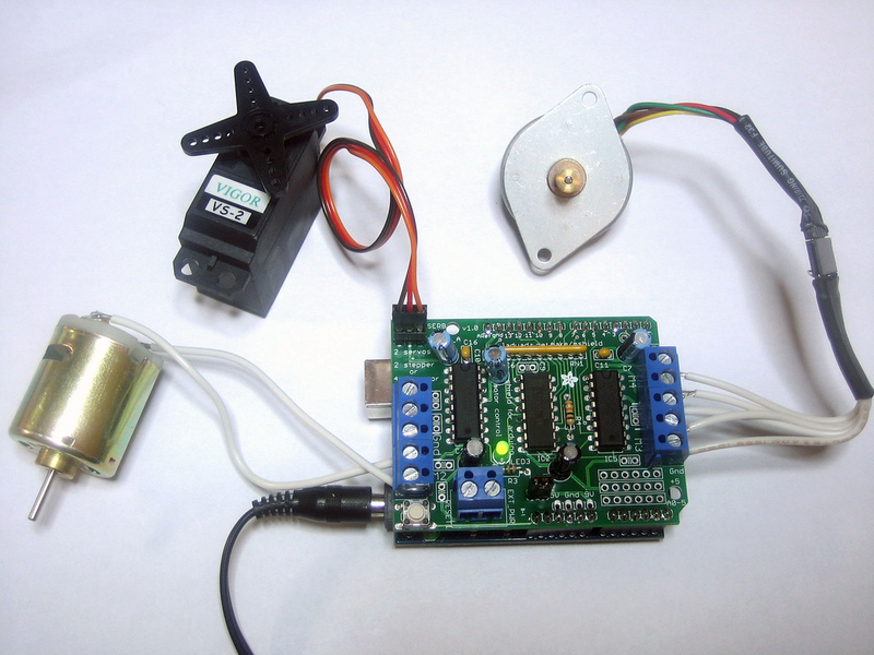 Using Rc Servos Adafruit Motor Shield Adafruit