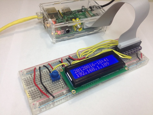 Drive a 16x2 LCD with the Raspberry Pi