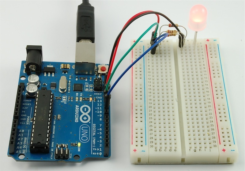 Breadboard layout arduino lesson rgb leds adafruit
