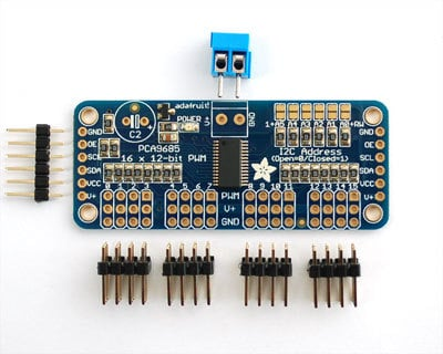 Adafruit 16-Channel Servo Driver with Arduino