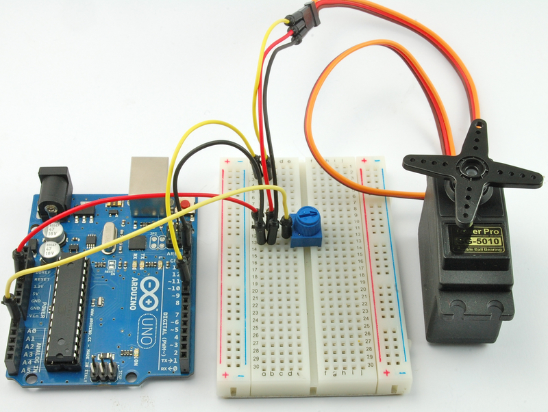 Arduino code for sweep lesson servo motors