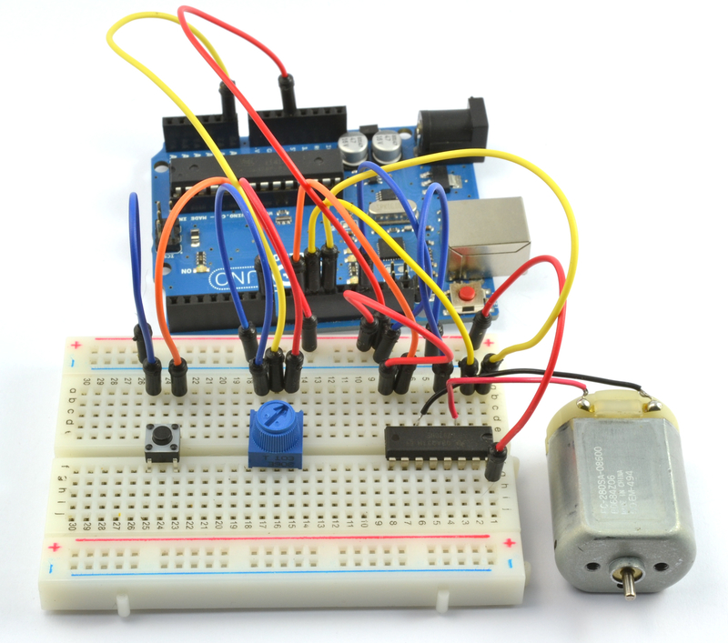 Lm293d on control voltage arduino