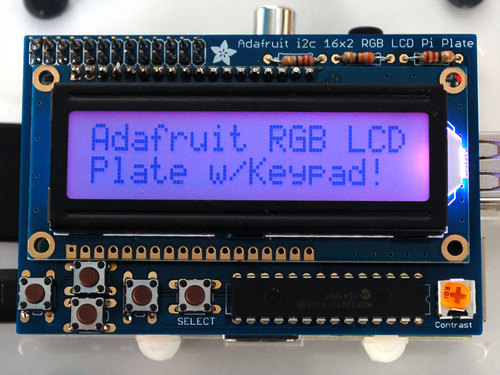 Standard LCD 16xextras white on blue ID: 1- : Adafruit