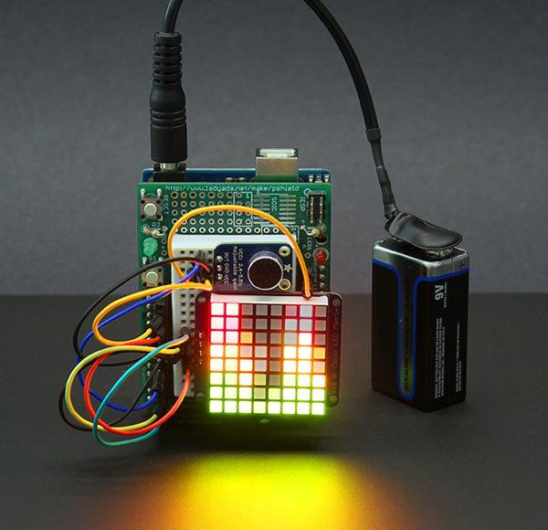Overview tiny arduino music visualizer adafruit