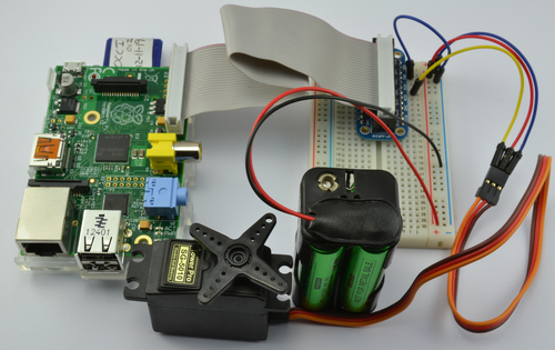 Adafruit's Raspberry Pi Lesson 8. Using a Servo Motor