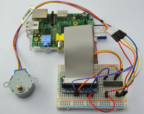 Adafruit's Raspberry Pi Lesson 10. Stepper Motors