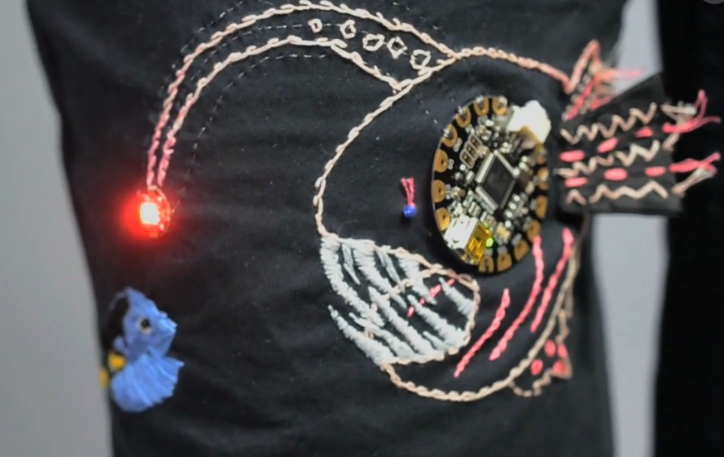 Overview light up angler fish embroidery adafruit