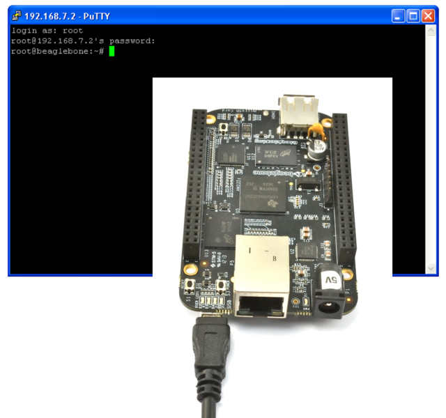 SSH to BeagleBone Black over USB