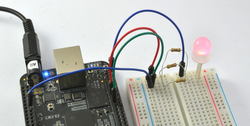Fading a RGB LED on BeagleBone Black