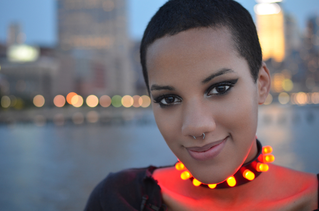 Punk LED Collar