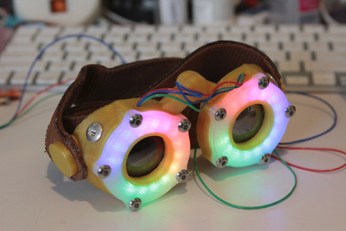 3D Printed LED Goggles