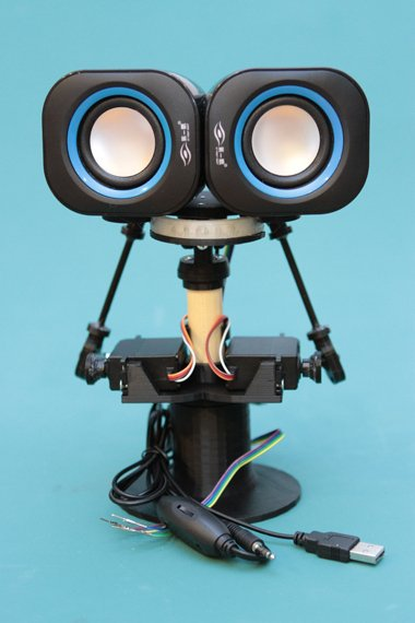 3D Printed Animatronic Robot Head