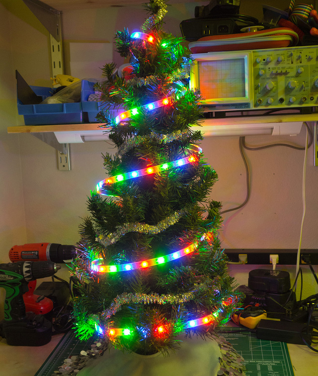 WiFi Controlled LED Christmahanukwanzaa Tree