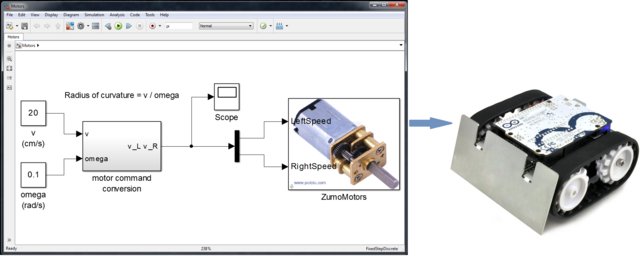 How to program a Zumo Robot with Simulink