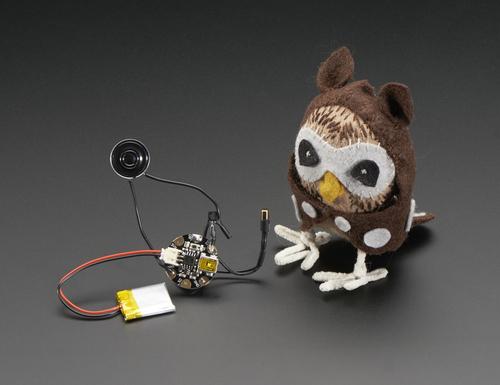Chirping Plush Owl Toy