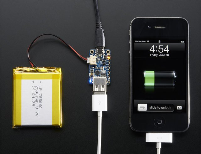 Adafruit PowerBoost 500 + Charger