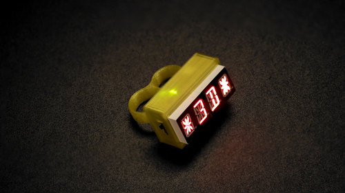 3D Printed LED Knuckle Jewelry