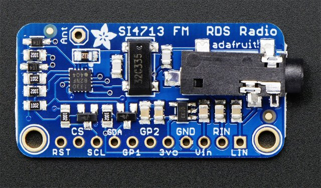 Adafruit Si4713 FM Radio Transmitter with RDS/RDBS Support