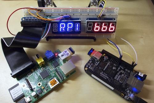 LED Backpack Displays on Raspberry Pi and BeagleBone Black