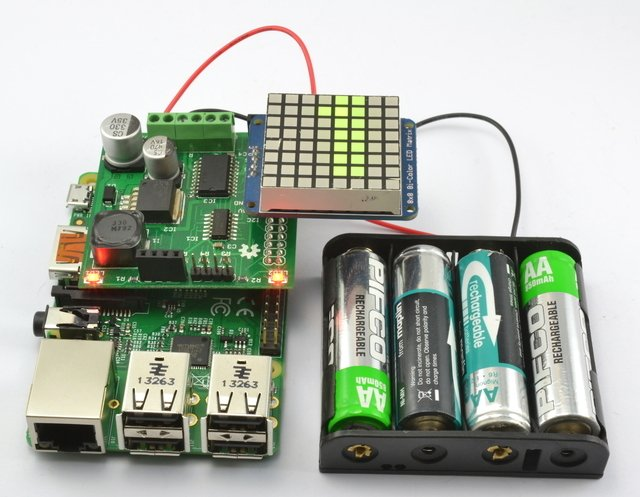 Battery Powered Raspberry Pi Displays w/RaspiRobot Shield
