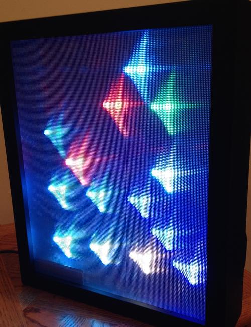 12mm Diffused Flat Digital Rgb Led Pixels Strand Of 25