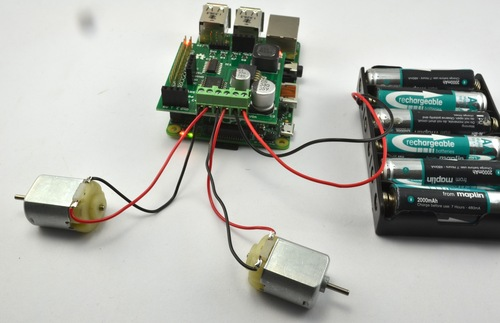 Controlling Motors using the Raspberry Pi and RasPiRobot Board V2