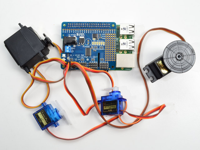 Adafruit 16-Channel PWM/Servo HAT & Bonnet for Raspberry Pi