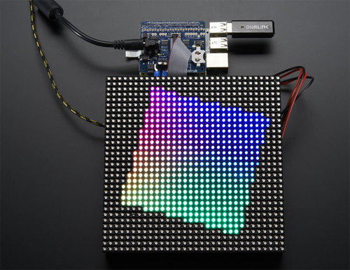 Adafruit RGB Matrix + Real Time Clock HAT for Raspberry Pi