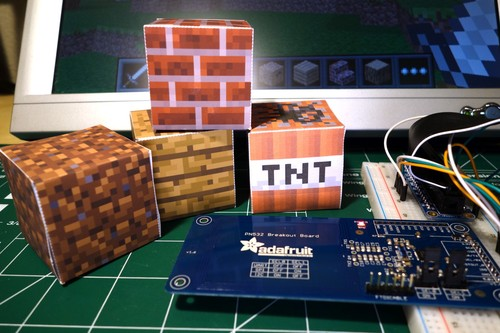 Raspberry Pi NFC Minecraft Blocks