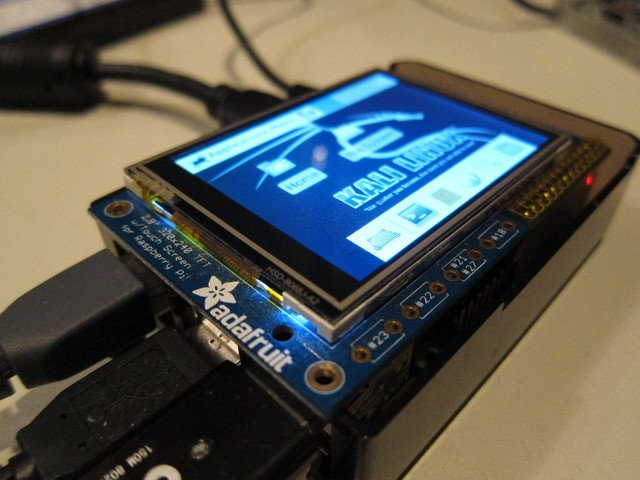 Kali Linux on the Raspberry Pi with the PiTFT