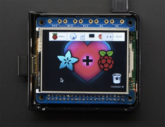 "Adafruit 2.4"" PiTFT HAT with Resistive Touchscreen Mini Kit"