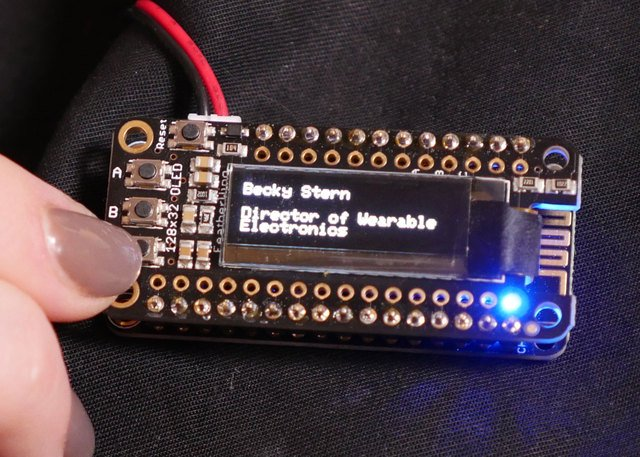 WiFi OLED Display Badge