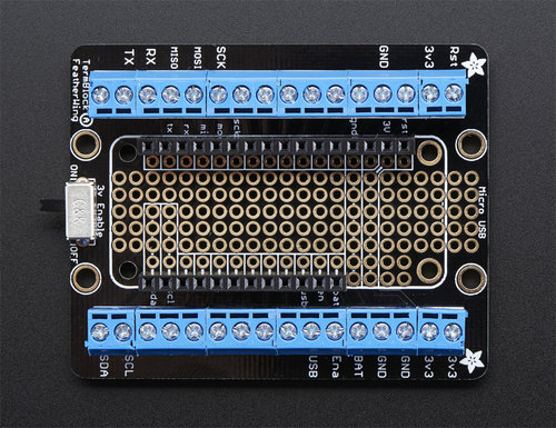 Adafruit Terminal Block Breakout FeatherWing
