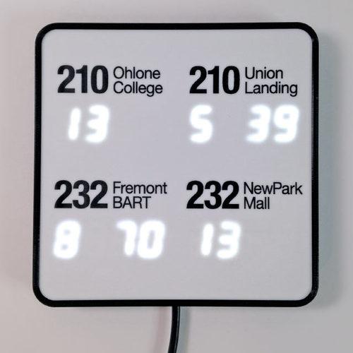Personalized NextBus ESP8266 Transit Clock