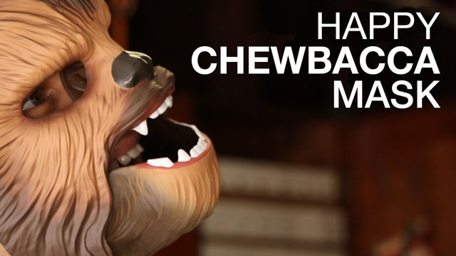 Happy Chewbacca Mask