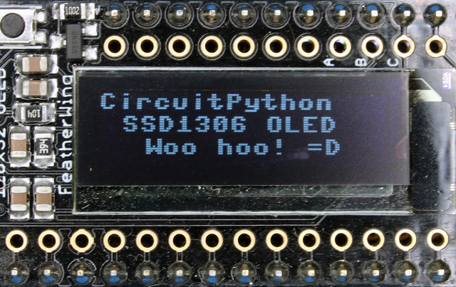 CircuitPython Hardware: SSD1306 OLED Display