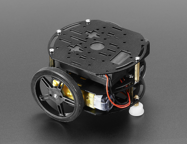 Tri-Layer Mini Round Robot Chassis Kit