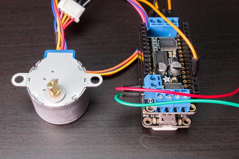 Stepper motor - NEMA-17 size - 200 steps/rev, 12V 350mA ID: 324 ...