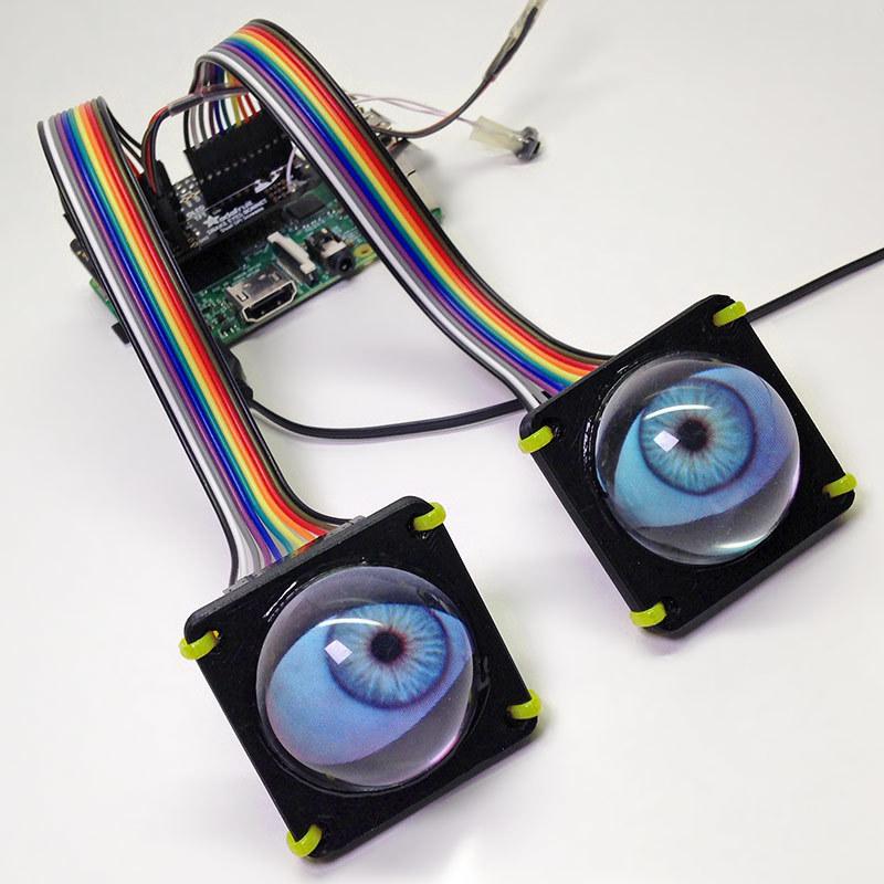 Overview Animated Snake Eyes Bonnet For Raspberry Pi