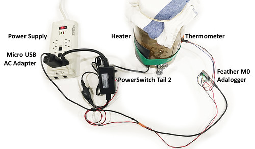 Kombucha Thermostat with CircuitPython and Feather