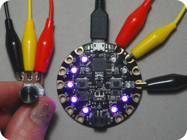 Circuit Playground Analog Input