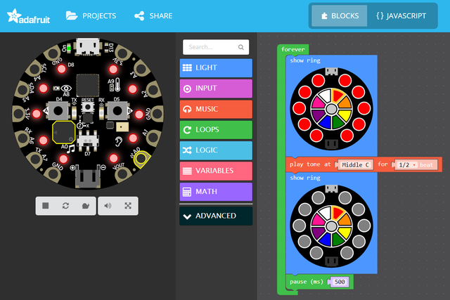 MakeCode for Circuit Playground Express